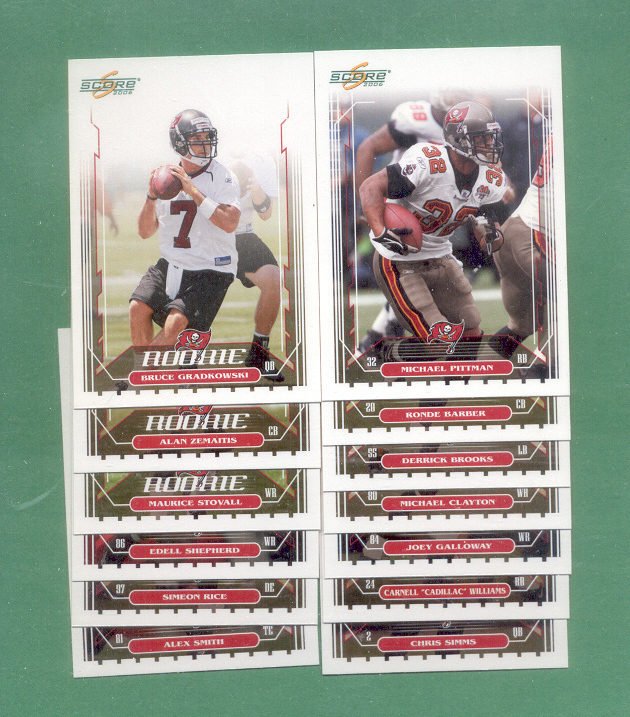 2006 Score Tampa Bay Buccaneers Football Team Set