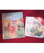Two Golden Books Lady And The Tramp & Christmas Mouse  - $7.99