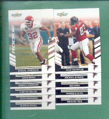 2007 Score Atlanta Falcons Football Team Set