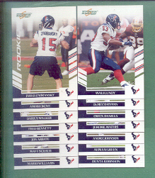 2007 Score Houston Texans Football Team Set