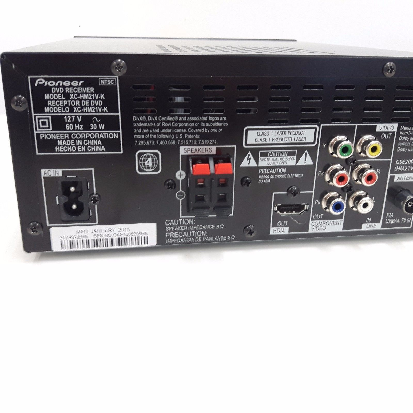 Pioneer Dehp3700mp Replacement Receiver Only No Faceplate Deh P790bt Premier Wiring Diagram Get Free Image About Defective X Hm21v K Dvd Sold As Is