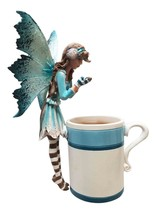 Amy Brown Winter Mood Hot Cocoa Faery Statue Fairy Sculpture Sweet Addictions - $28.99