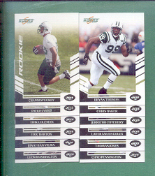 2007 Score New York Jets Football Team Set