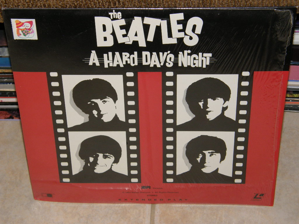 The Beatles A Hard Days Night Rare Pressing Laserdisc (1964) [MP 1064D]