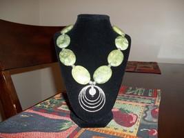 Green Jade Necklace - $7.99