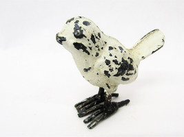 "Small Rustic Miniature Prim 2"" Cast Iron Chick Spring Bird Chippy White - $12.16"
