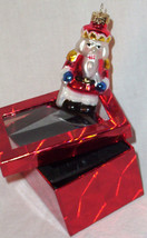 Santa Claus Glass Ornament Christmas Tree NEW hand painted - $9.00