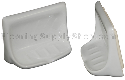 Porcelain Soap Dish - Biscuit Glossy