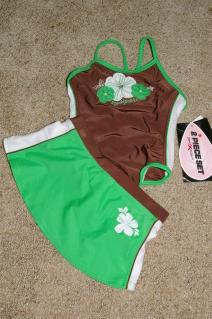 ZERO XPOSUR Swimsuit Girls 1 Pce w/ Skirt Size 4 NWT