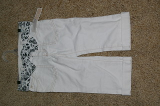 Old Navy White Jeans Capri Pant Girls Size 4 T
