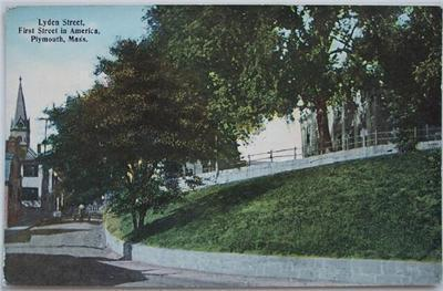 Primary image for 1910's Hand Tinted PC Lyden Street, Plymouth, MA