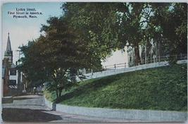 1910's Hand Tinted PC Lyden Street, Plymouth, MA - $4.50
