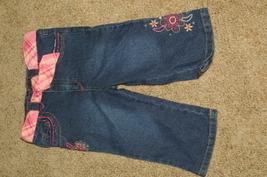 Arizona Jean Co Blue Jeans Capri Pant Girls Size 4  - $10.99