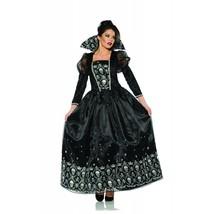 Underwraps Dark Queen Gothic Teschi Abito Halloween Adulto Donna Costume... - $49.33