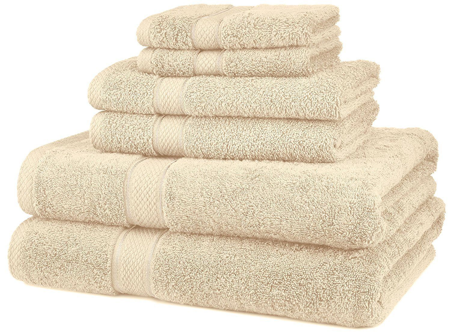 EGYPTIAN COTTON FROM PINZON MONOGRAMMED 6 PCS.TOWELS SET COLOR CHOICES