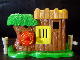 Fisher Price Little People Kingdom Castle Robin Hood Woodsman Fort - $4.71