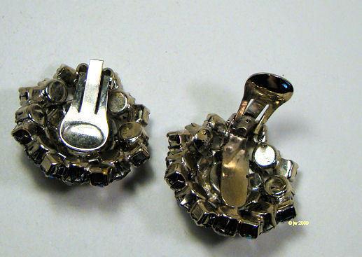 Smoky Rhinestone Clip Earring