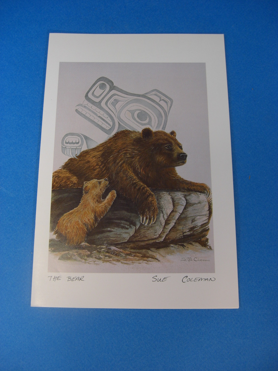 THE BEAR Art Card by Susan Coleman