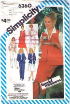 1983 Jacket-Verst-Pants-Skirt Pattern 6360-s Sizes 16½-20½ - $9.99