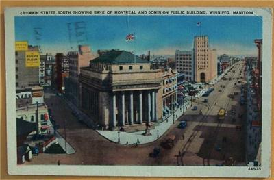 1948 Post Card Main Street South, Winnipeg, Manitoba