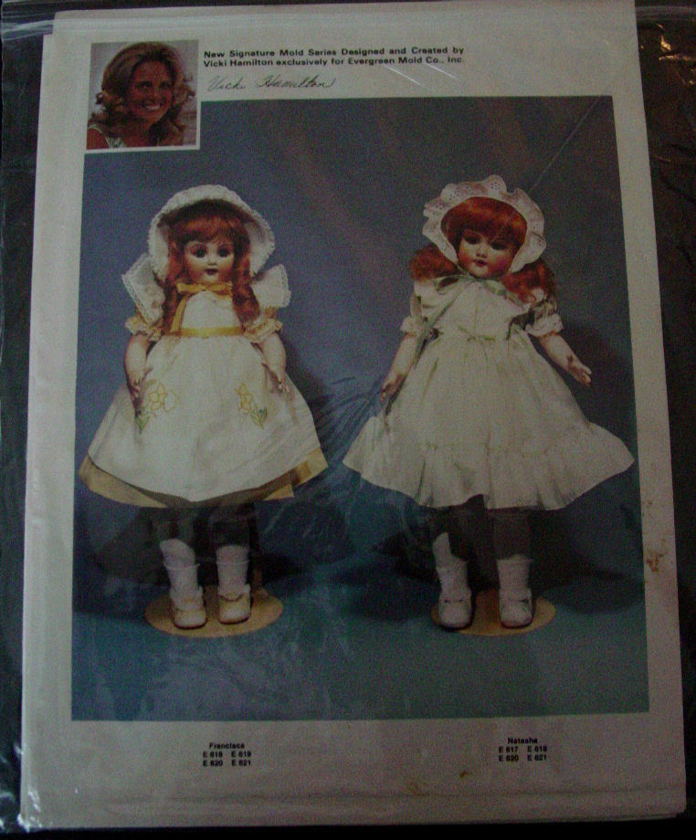 "Pattern Dress, Pinafore, Bonnet for 25"" doll clothes"