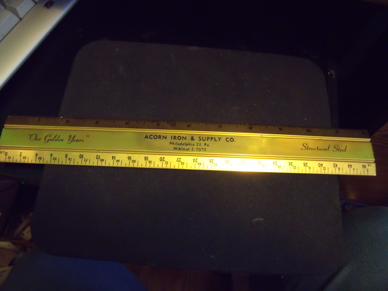 Acorn Iron & Supply Co from Philadelphia Vintage metal Ruler