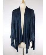 Anthropologie Tiny Patchwork Open Front Asymmetric Cardigan Top Blue M M... - $32.51
