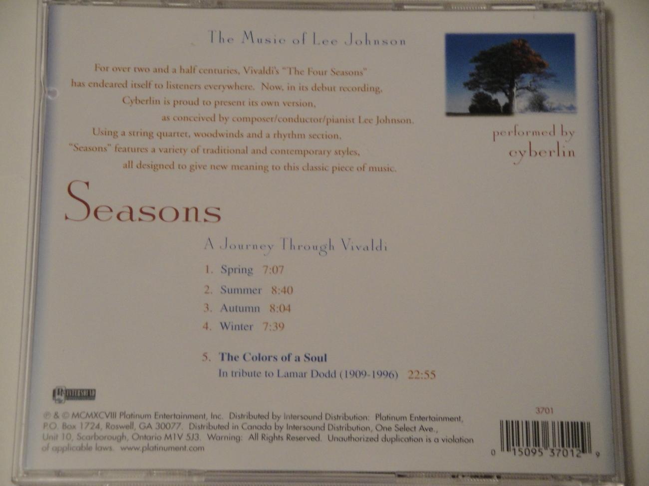 Seasons A Journey Through Vivaldi Music CD