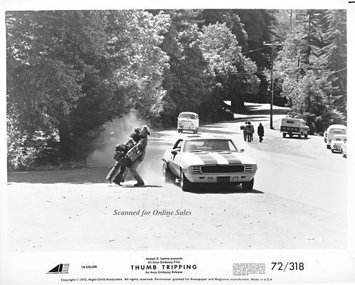Thumb Tripping Foster Burns On the Road 8x10 Photo