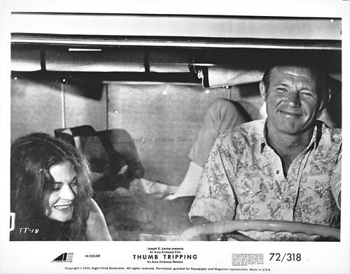 Thumb Tripping Meg Foster Michael Conrad Smiling 8x10 Photo