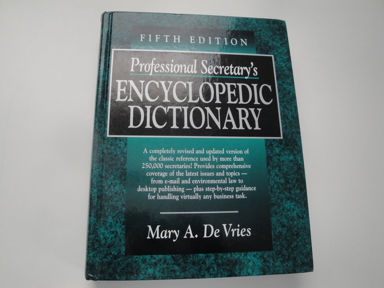 Professional Secretary's Encyclopedic Dictionary 5th Edition