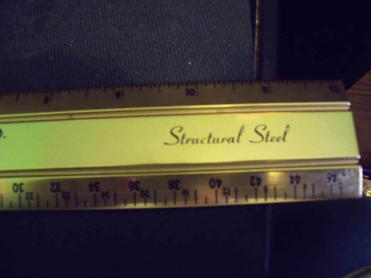 Acorn Iron & Supply Co from Philadelphia Vintage metal Ruler