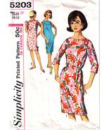 1960's SHIFT DRESS Pattern 5203-s Size 10-12 - Complete - $9.99