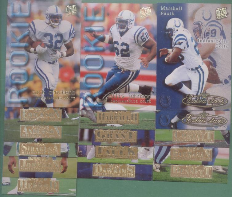 1995 Fleer Ultra Indianapolis Colts Football Team Set