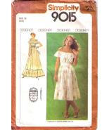 1979 GUNNE SAX DRESS Pattern 9015-s Size 10 - Complete - $12.99