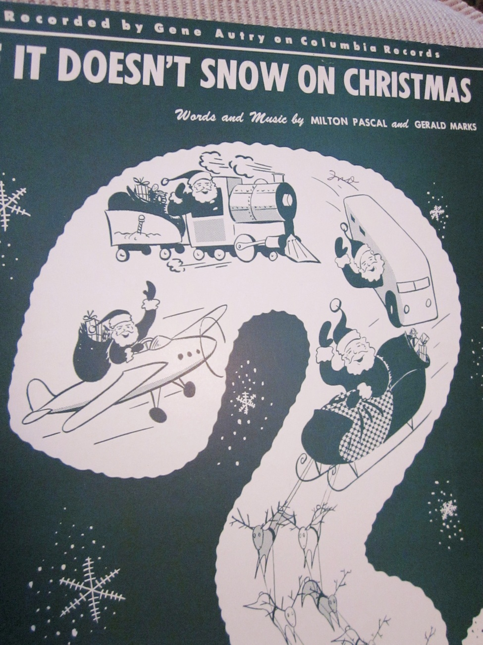 Vintage Sheet Music If It Doesn't Snow On Christmas by Pascal & Marks