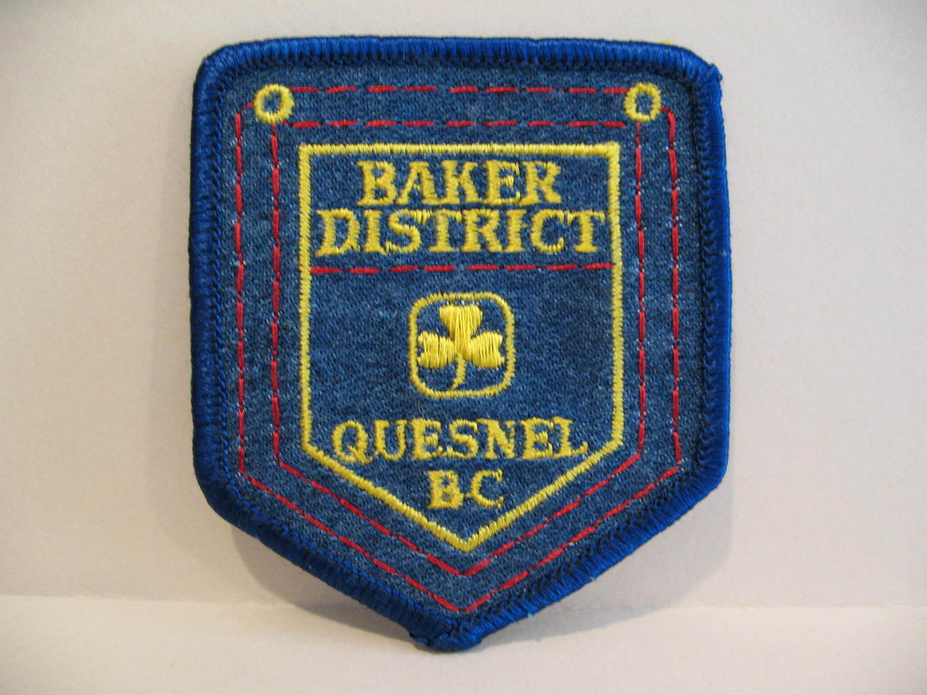 Quesnel BC. Girl Guides Patch Crest Souvenir Baker District