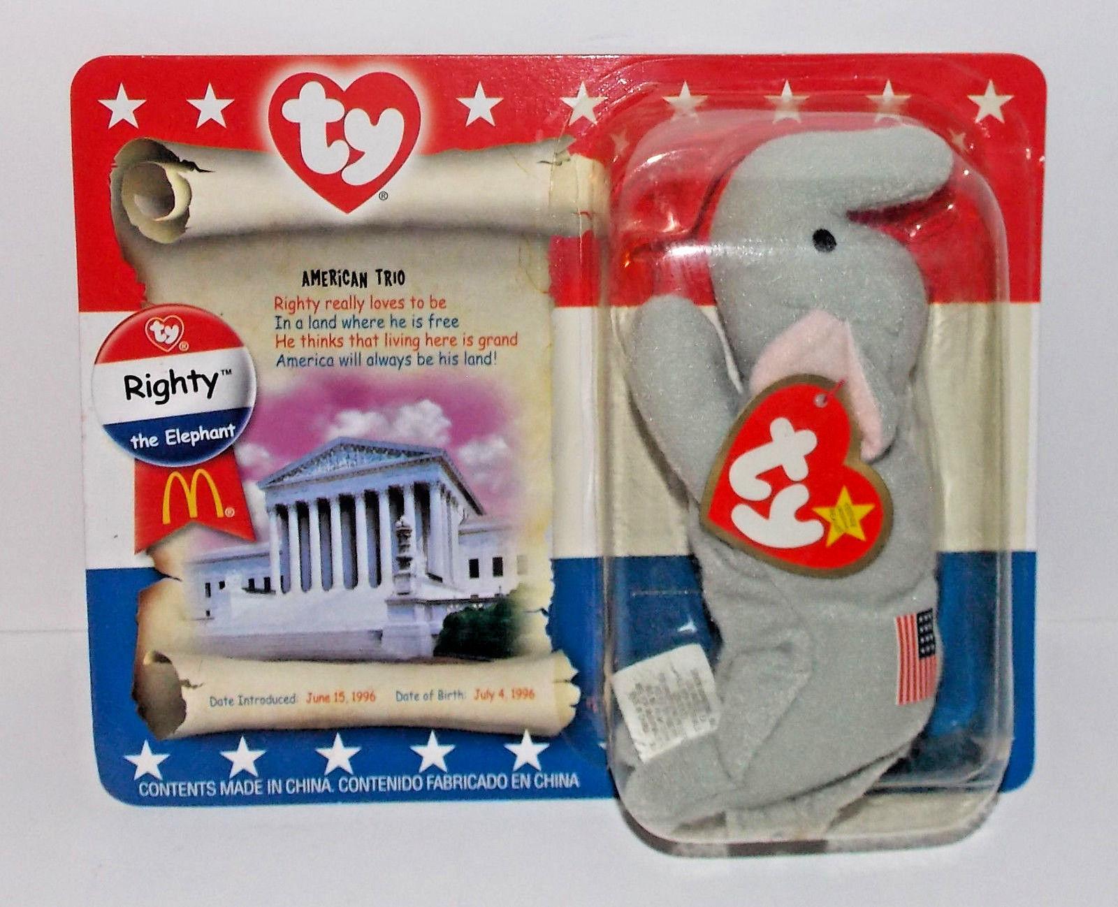 Ty Teenie Beanie Baby American Trio Plush Stuffed Animal Sealed McDonalds 2000