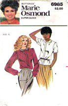 1980's BLOUSES Pattern 6985-b Sizes 6-8-10 - UNCUT - $14.99