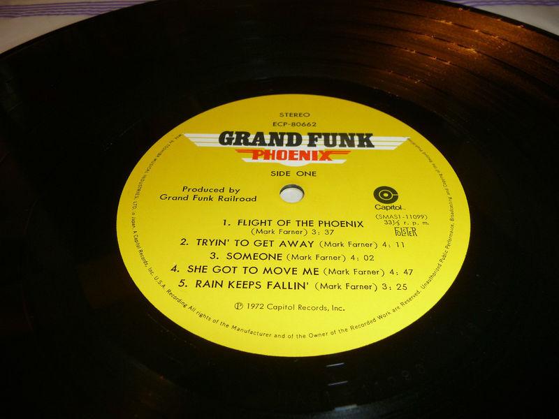 Grand Funk Railroad Phoenix Japan Lp 1972 Capitol ECP 80662 With Obi And Insert