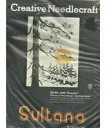 """CREATIVE NEEDLECRAFT KIT # 1225 """" SUNRISE"""" WALL PANEL  - $19.99"""