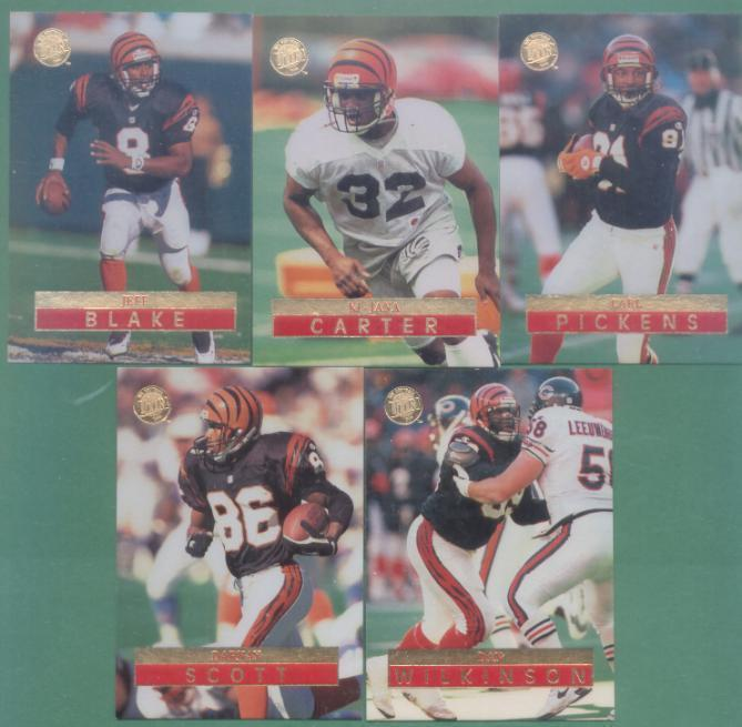 1996 Fleer Ultra Cincinnati Bengals Football Team Set