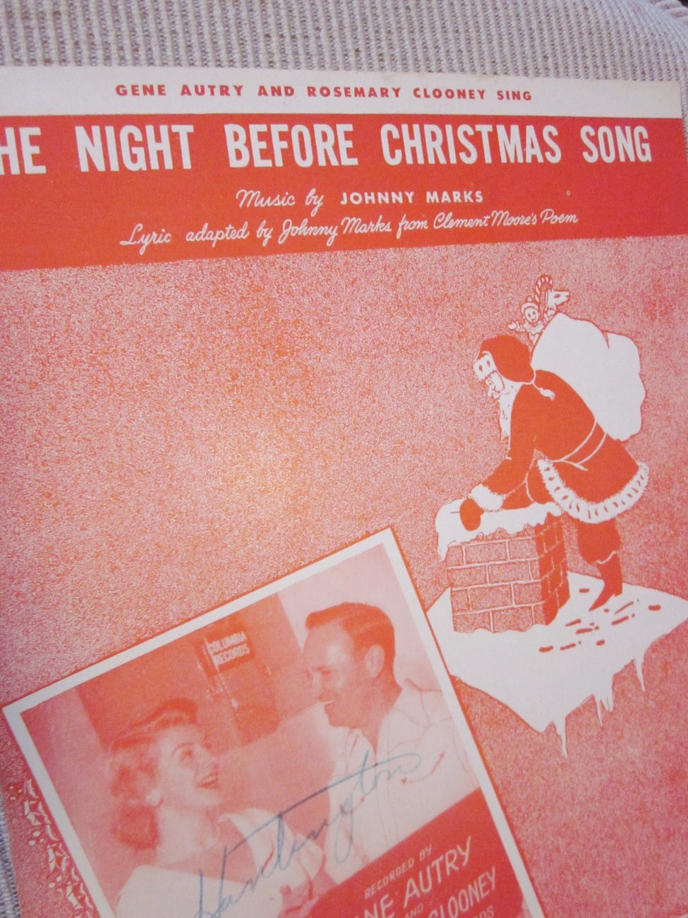 Vintage Sheet Music The Night Before Christmas Song by J. Marks - Autry Clooney