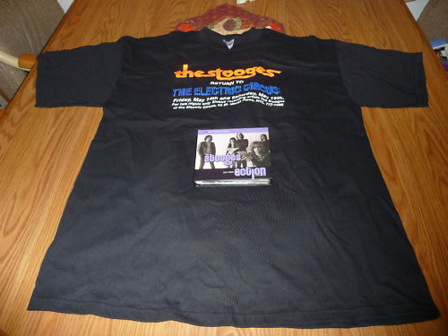 Iggy and The Stooges You Want My Action Cd With Rare T-Shirt The Electric Circus