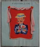 Old 1940-50's Valentines Day for Dad Greeting Card - $2.50
