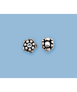 (2)  NEW, SOLID STERLING SILVER BALI STYLE BEADS - $9.29