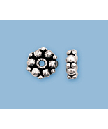 (2) NEW STERLING SILVER  BALI STYLE  BEADS - $11.05