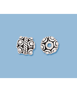 (4) NEW  EXTRA LARGE STERLING SILVER  BEADS  - $9.29