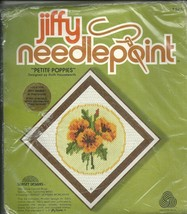 Jiffy Needlepoint / Petite Poppies Cross Stitch Kit - $9.99