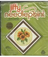 JIFFY NEEDLEPOINT / PETITE POPPIES CROSS STITCH KIT - $9.99